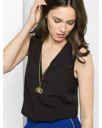 BaubleBar - Metallic Lashed Out Pendant - Lyst