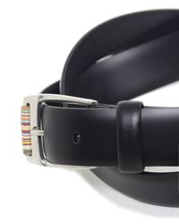 Paul Smith Black Roller Leather Belt for men