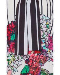 Elie Saab - Multicolor Printed Crepe Playsuit - Lyst