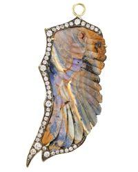 Sylva & Cie - Metallic Opal Wing Pendant - Lyst