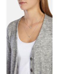 Karen Millen | Metallic Double Arrow Pendant | Lyst