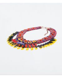 Zara | Multicolor Braided Necklace | Lyst