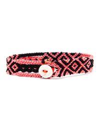 Dezso by Sara Beltran | Pink Handwoven Sapphire Bracelet | Lyst