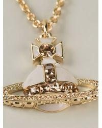Vivienne Westwood - Metallic Cross Pendant Necklace - Lyst