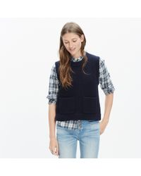 Madewell - Black Merino Ribbed Sweater-vest - Lyst