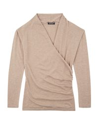 Baukjen | Natural Callington Wrap Jumper | Lyst
