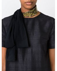 Marni | Metallic Contrasted Panel Necklace | Lyst