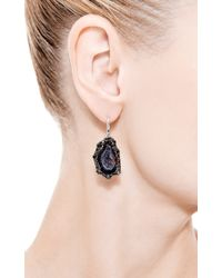 Kimberly Mcdonald - One Of A Kind Dark Geode and Irregular Black Diamond Earrings - Lyst