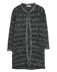 Mango - Black Frayed Edges Cardigan - Lyst