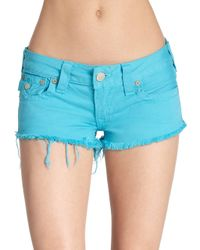 True Religion | Blue Joey Cutoff Jean Shorts | Lyst