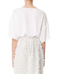 Tibi - White Savanna Crepe Draped Kimono Top - Lyst