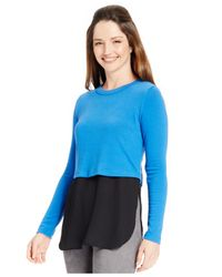 Karen Kane | Blue Layered Colorblocked Sweater | Lyst