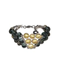 Antica Murrina - Gray Atelier Nuance - Grey & Amber Murano Glass Bracelet - Lyst