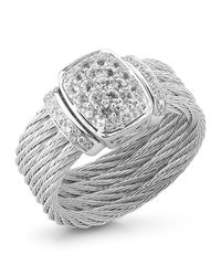 Charriol | Metallic White Gold Sapphire Cable Ring Size 65 | Lyst