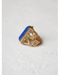 Free People - Blue Tribe Jewelry Womens Chevron Stone Ring - Lyst