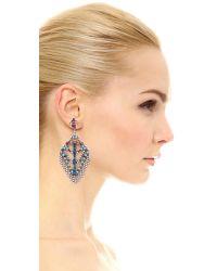 DANNIJO - Metallic Coraza Earrings - Lyst
