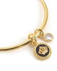 Juicy Couture | Metallic Enamel Crown Slider Bangle Bracelet | Lyst