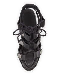 Alexander Wang - Black Llse Leather Lace-Up Sandals  - Lyst
