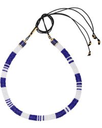 Isabel Marant - Blue Beaded Necklace - Lyst