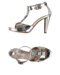 Rodo - Metallic Sandals - Lyst