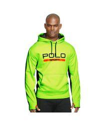 Ralph Lauren - Green Tech Fleece Hoodie for Men - Lyst