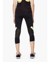 Mango   Black Fitness & Running - Slimming Effect Capri Leggings   Lyst