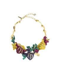 Oscar de la Renta | Multicolor Swarovski® Crystal Tulip Necklace | Lyst