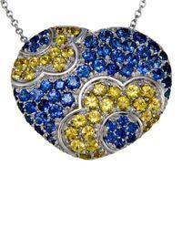Pasquale Bruni   18k Blue & Yellow Sapphire Pendant Necklace   Lyst