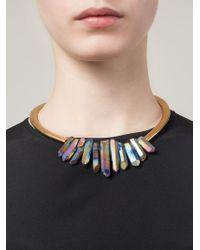 Katerina Psoma | Metallic Multi Stone Stiff Necklace | Lyst