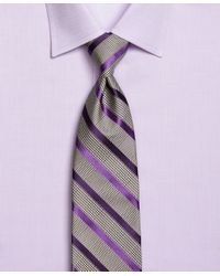 Brooks Brothers | Gray Tonal Houndstooth Stripe Tie for Men | Lyst