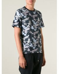 Wooyoungmi - Blue Camouflage Print T-Shirt for Men - Lyst