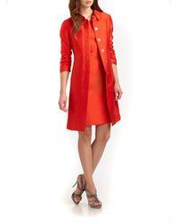 Armani - Orange Silkcotton Gazar Coat - Lyst
