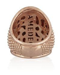 Amedeo | Pink Rose Goldplated Sardonyx Shell and Diamond Ladybug Cameo Ring | Lyst