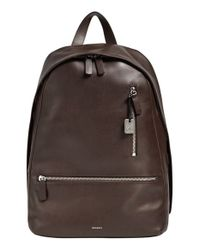 Skagen - Brown 'kroyer 2.0' Leather Backpack for Men - Lyst