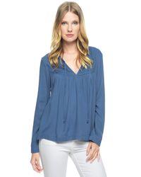 Ella Moss | Blue Stella Long Sleeve Top | Lyst