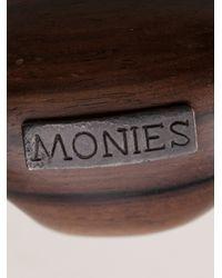 Monies - Brown Oval Ring - Lyst
