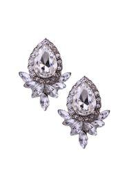 AKIRA - Metallic Crystal Bud Earrings - Lyst
