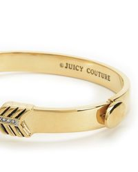 Juicy Couture | Metallic Pave Heart & Arrow Bangle | Lyst