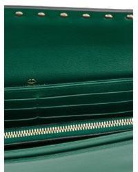 Valentino - Green 'rockstud' Clutch - Lyst