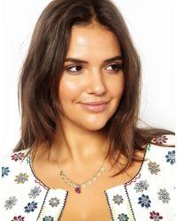 ASOS - Multicolor Mini Coin Tassel Necklace - Lyst
