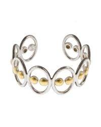 Gurhan | Metallic Domino White Silver 24k Yellow Gold Cuff Bracelet | Lyst