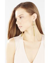 BCBGMAXAZRIA | Metallic Stone Tassel Earrings | Lyst