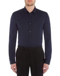 HUGO | Blue Ero3 Slim Fit Shoulder Detailing Shirt for Men | Lyst