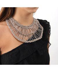 Brunello Cucinelli - Metallic Cotton Macrame Bib Necklace for Men - Lyst