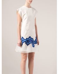 3.1 Phillip Lim - White Embroidered Geode Flounce Dress - Lyst