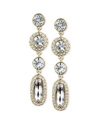 Givenchy - Metallic 10k Goldplated Crystal Linear Earrings - Lyst
