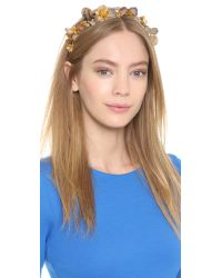 Eugenia Kim - Brown Galina Headband - Slate/gold - Lyst