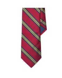 Polo Ralph Lauren - Red Striped Silk Repp Tie for Men - Lyst