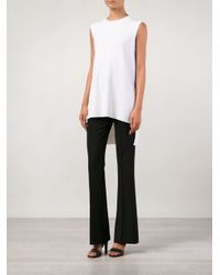 Adam Lippes - White High Low Sweater - Lyst