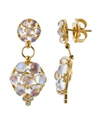Temple St. Clair | Metallic Women's 18k Yellow Gold Crystal Earrings | Lyst